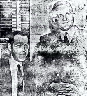 Ο G. W. Anderson (αριστερά) μαζί με τον Jack Adams