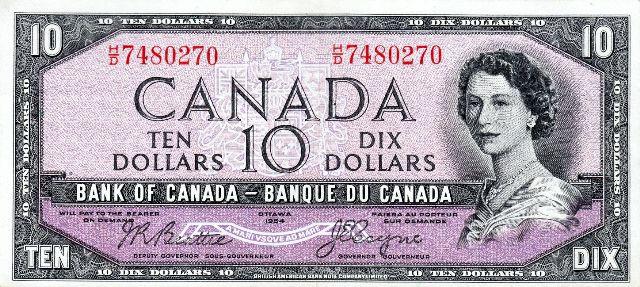 Το χαρτονόμισμα των 10 Καναδικών δολλαρίων στο οποίο απεικονιζόταν η μορφή του Διαβόλου