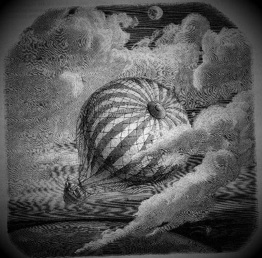 """Εικονογράφηση για το βιβλίο του Edgar Allan Poe, """"Unparalleled Adventure of One Hans Pfaall"""""""