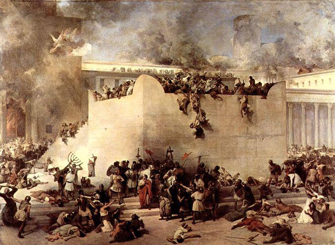"""""""Η καταστροφή του Ναού της Ιερουσαλήμ"""", πίνακας του Ιταλού ζωγράφου Francesco Hayez (10/02/1791 - 21/12/1882)"""