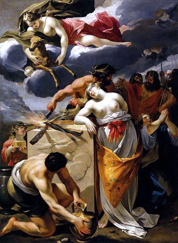 """""""Η θυσία της Ιφιγένειας"""", πίνακας του Γάλλου ζωγράφου Francois Perrier (1590 - 1650)"""