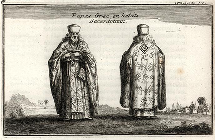 Ορθόδοξος Έλληνας ιερωμένος, όπως απεικονίζεται στο βιβλίο του Tournefort