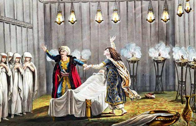 Ο όρκος για εκδίκηση του Αλή Πασά και της αδελφής του, πάνω από το νεκρικό κρεβάτι της μητέρας τους