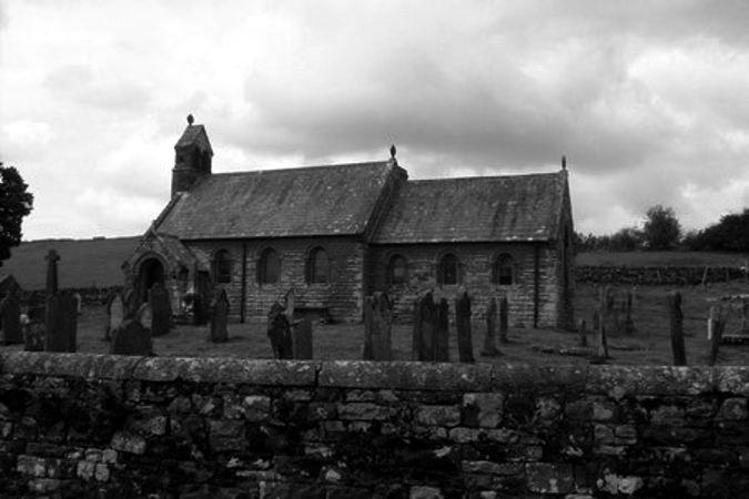 Η εκκλησία και το κοιμητήριο του Croglin, που συνορεύει με την έπαυλη του Croglin Grange