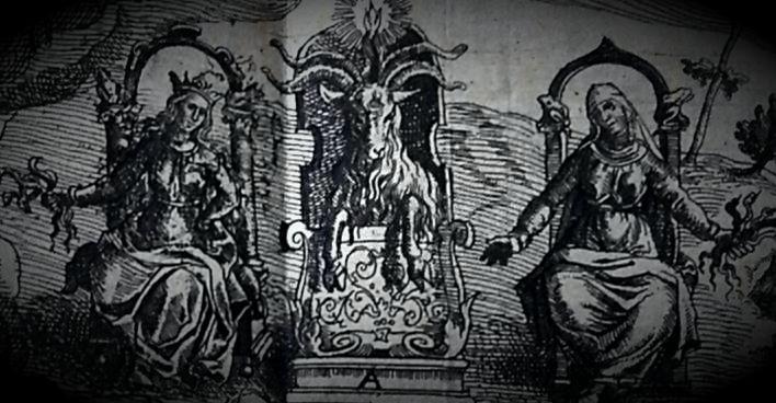 """Μία ακόμα χαρακτηριστική απεικόνιση μαγισσών από το βιβλίο του Pierre de Lancre """"Tableau de l'inconstance des mauvais anges et demons"""", που εκδόθηκε το 1612"""