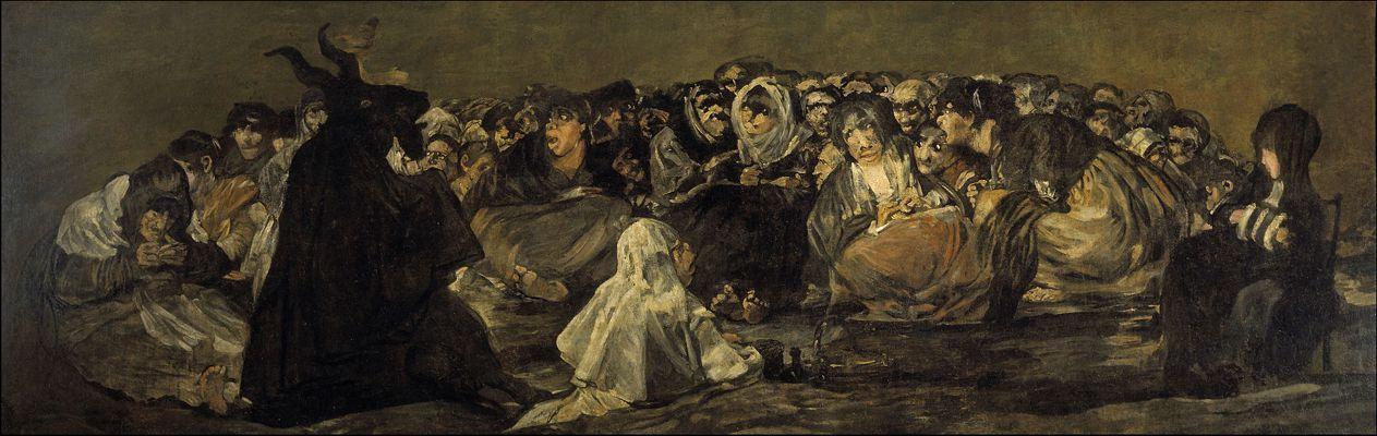 """""""Το Σάββατο των Μαγισσών/Ο Μέγας Τραγόμορφος"""", πίνακας του Francisco Goya (30/03/1746 - 16/04/1828)"""
