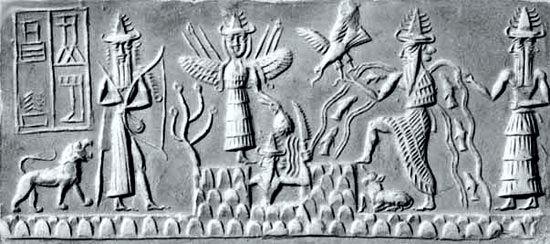 Η δημιουργία του Σύμπαντος, στην οποία πρωτοστατεί ο θεός Ένκι, κατά τη μυθολογία των Σουμερίων