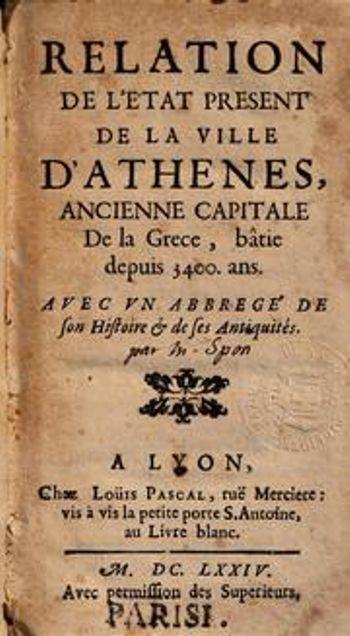 Το βιβλίο του Jacques Paul Babin, που γράφτηκε το 1699 και εκδόθηκε το 1854