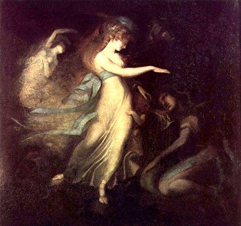 """""""Ο Πρίγκηπας Αρθούρος και η Βασίλισσα των Νεράιδων"""", πίνακας του Ελβετού ζωγράφου Henry Fuseli (04/02/1741 - 17/04/1825)"""