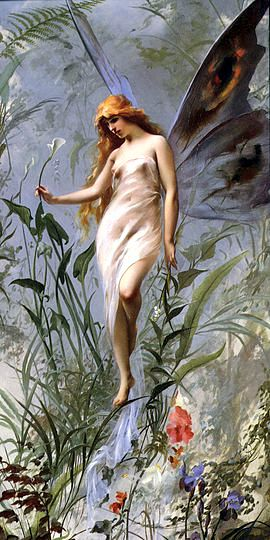 """Lily Fairy"" (1888), πίνακας του Ισπανού ζωγράφου Luis Ricardo Falero (1851 - 1896)"