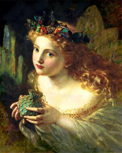 """""""Πορτραίτο μιας Νεράιδας"""" (1869), πίνακας της Αγγλίδας ζωγράφου Sophie Gengembre Anderson (1823 - 1903)"""