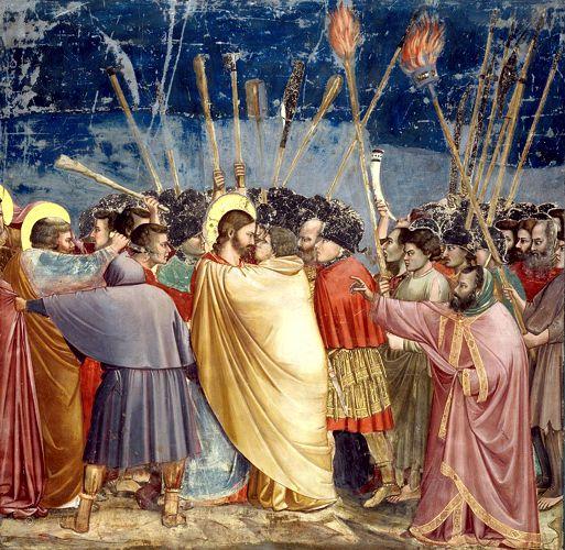 Το φιλί του Ιούδα, πίνακας του Ιταλού ζωγράφου Giotto di Bondone (1266 ή 1267 - 1337)