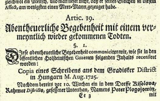 Αυστριακό έγγραφο που αναφέρεται στην περίπτωση του Petar Blagojevich