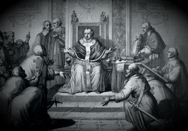 Η δίκη των Ναϊτών Ιπποτών ενώπιον του Πάπα Κλήμη Ε'