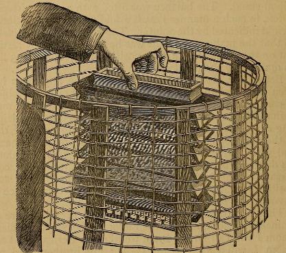 Σκαρίφημα από το πείραμα με το ακορντεόν, το οποίο δείχνει πώς κρατούσε ο Home το ακορντεόν
