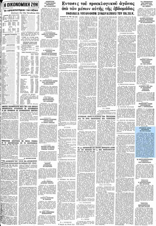 """Το άρθρο, όπως δημοσιεύθηκε στην εφημερίδα """"ΜΑΚΕΔΟΝΙΑ"""", στις 15/10/1974"""
