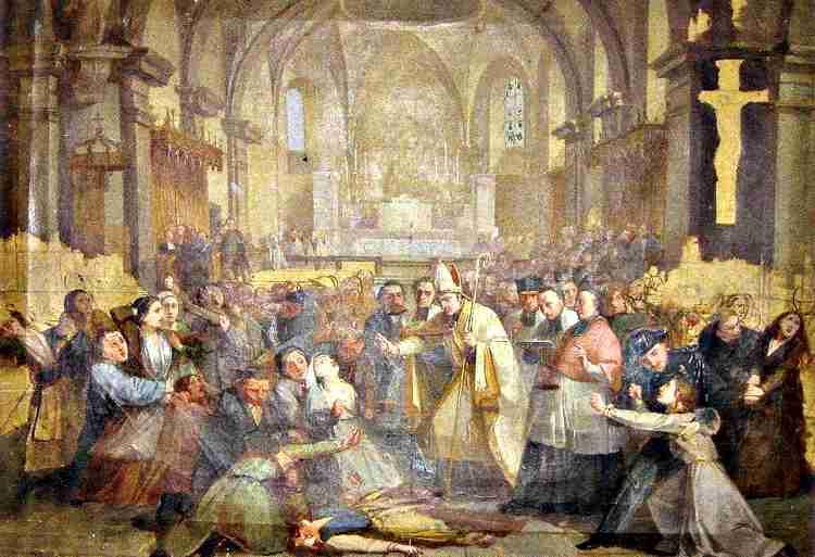 Ο εξορκισμός των γυναικών στην εκκλησία του Morzine της Σαβοΐας, το 1857