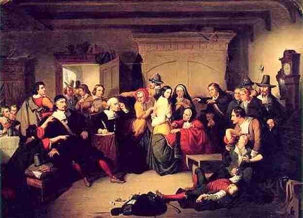 """""""Εξέταση Μάγισσας"""", πίνακας του Αμερικανού ζωγράφου Tompkins Harrison Matteson"""