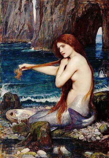 """""""Γοργόνα"""", πίνακας του John William Waterhouse (1849 - 1917)"""