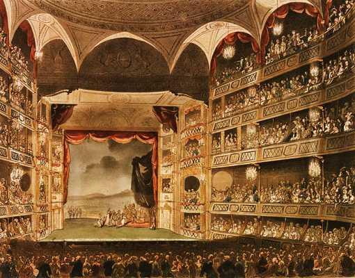 """Το εσωτερικό του """"Royal Theatre - Drury Lane"""", 1808"""