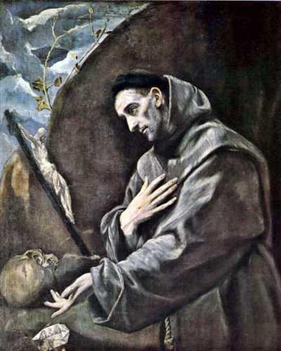 Ο Άγιος Φραγκίσκος της Ασίζης, έργο του Ελ Γκρέκο