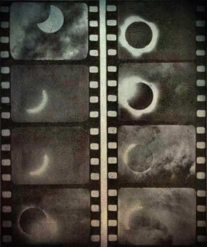 Στιγμιότυπα από την ολική ηλιακή έκλειψη, στις 19 Ιουνίου 1936