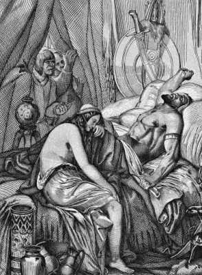 Γκραβούρα εποχής, που απεικονίζει τον θάνατο του Αττίλα