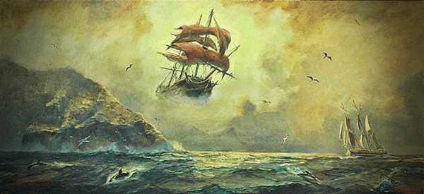 """Ο """"Ιπτάμενος Ολλανδός"""", το θρυλικό πλοίο του Van Der Decken"""