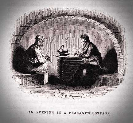 Γκραβούρα εποχής, στην οποία φέρεται να απεικονίζεται ο Robert Pashley (δεξιά)