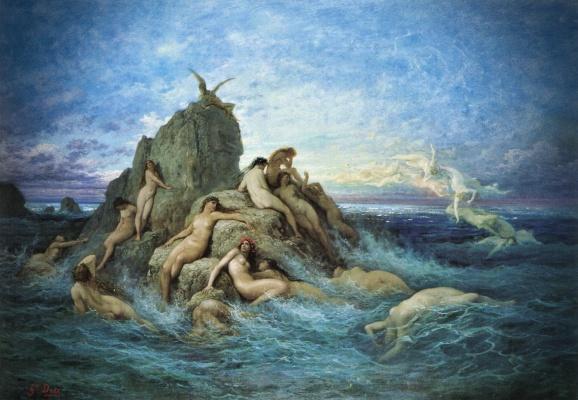 """""""Ωκεανίδες"""", πίνακας του Γάλλου ζωγράφου Gustave Dore (1832 - 1883)"""