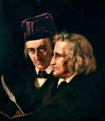 Οι Αδελφοί Grimm, πίνακας της Elisabeth Jerichau-Baumann (1819 - 1881)