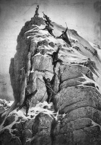 Η πρώτη ανάβαση στο Matterhorn, πίνακας του Γάλλου ζωγράφου Gustave Dore (1832 - 1883)