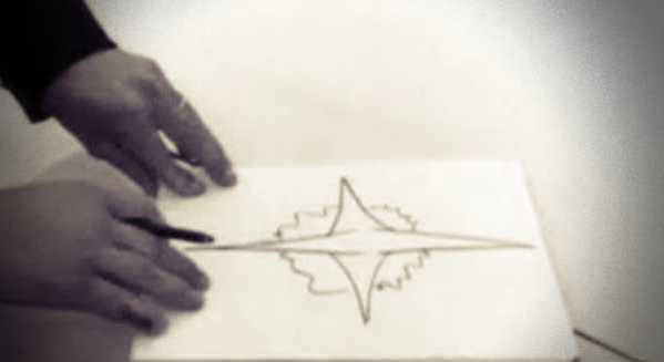 """Το σκίτσο του περίφημου """"Ιπτάμενου Σταυρού"""", όπως απεικονίστηκε από τους Αστυνομικούς"""
