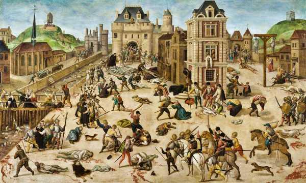 """""""Η Σφαγή του Αγίου Βαρθολομαίου"""", πίνακας του Γάλλου ζωγράφου Francois Dubois (1529 - 1584)"""