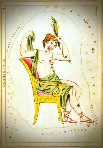 Απεικόνιση του Αστερισμού της Κασσιόπης, 1824
