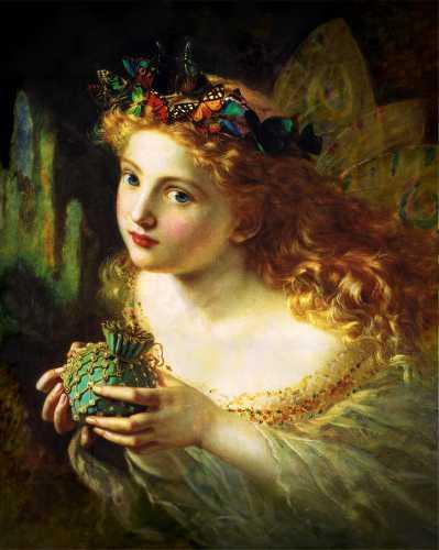 Πορτραίτο Νεράιδας, πίνακας της Sophie Gengembre Anderson (1869)