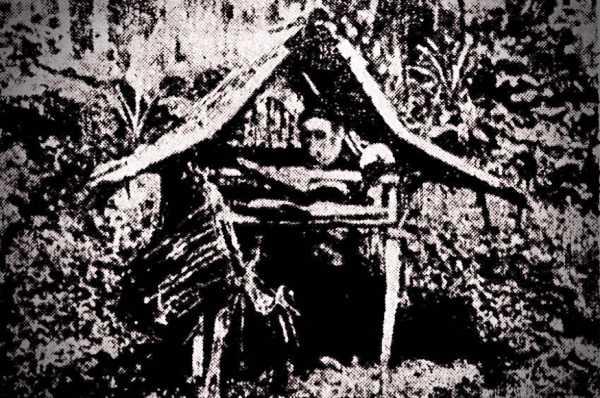 Καλύβα στις Ολλανδικές Ανατολικές Ινδίες, η οποία θεωρούνταν ότι κατοικούνταν από ένα φάντασμα