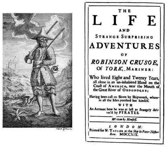 """Η πρώτη έκδοση του """"Ροβινσώνα Κρούσου"""", το 1719"""