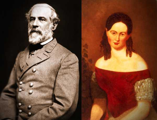Ο Robert E. Lee (19/01/1807 - 12/10/1870) και η μητέρα του, Anne Hill Carter Lee (26/03/1773 - 26/06/1829)