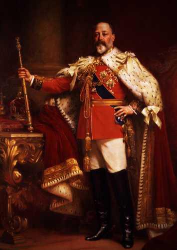 Ο Βασιλιάς της Αγγλίας, Εδουάρδος ο 7ος (09/11/1841 - 06/05/1910)
