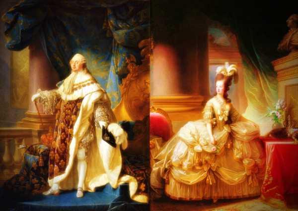 Λουδοβίκος 16ος (23/08/1754 - 21/01/1793) - Μαρία Αντουανέττα (02/11/1755 - 16/10/1793)