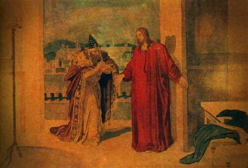 Ο Νικόδημος συνομιλεί με τον Ιησού