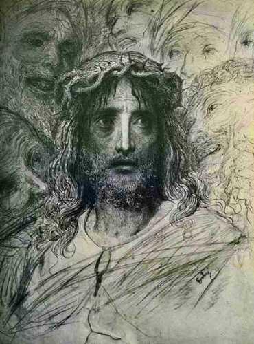 """""""Η Κεφαλή του Ιησού"""", έργο του Gustave Dore"""