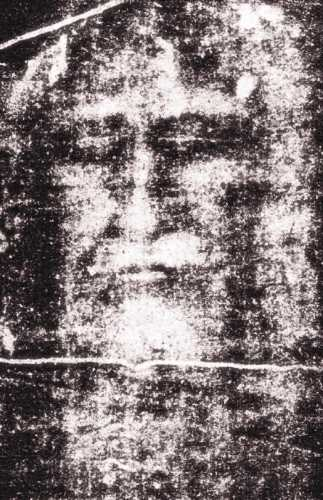 Η μορφή του προσώπου που έχει αποτυπωθεί στην Ιερά Σινδόνη του Τορίνο και αποδίδεται στον Ιησού