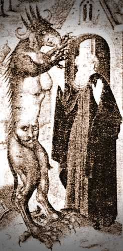 Οι Πειρασμοί του Αγίου Αντωνίου - Με αυτή τη μορφή φαντάζονταν οι άνθρωποι στον Μεσαίωνα ότι παρουσιάστηκε ο Διάβολος στον Άγιο Αντώνιο, για να τον βάλει σε πειρασμό