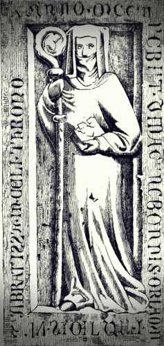 Η ταφική πλάκα της μοναχής Kunigunde, στη Μονή του Ουράνιου Θρόνου, στο Himmelthron