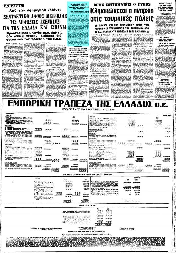 """Το άρθρο, όπως δημοσιεύθηκε στην εφημερίδα """"ΜΑΚΕΔΟΝΙΑ"""", στις 04/05/1978"""