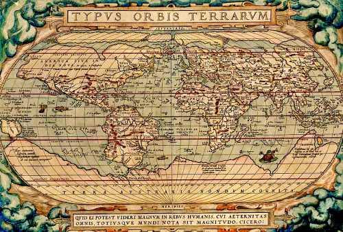 Χάρτης του Ολλανδού χαρτογράφου Abraham Ortelius (1527 - 1598), στον οποίο απεικονίζεται η Terra Australis