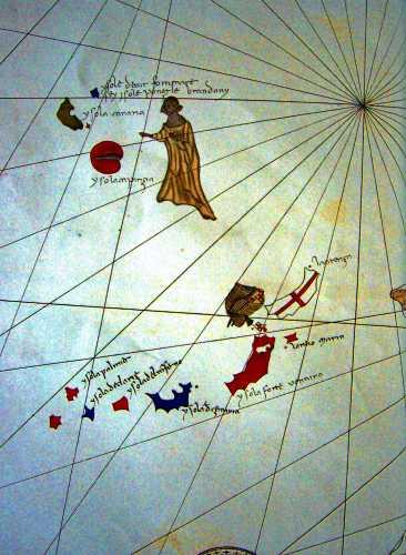 """Τα """"Νησιά των Μακαρίων"""", σε χάρτη εποχής"""