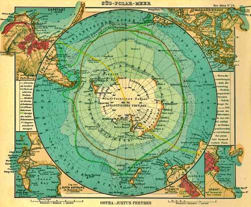 Γερμανικός χάρτης του 1906, στον οποίο απεικονίζεται η Νήσος Dougherty